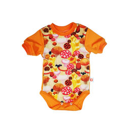 BOLETE short-sleeved baby's body tops, orange