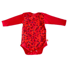 BLACK BEARBERRY baby's body tops/red